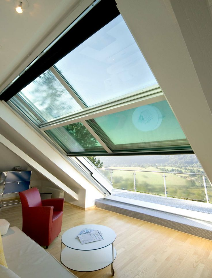 Sliding roof - how great would this be over a tub in the Master bath?! Of course I'd want one in the master bedroom too
