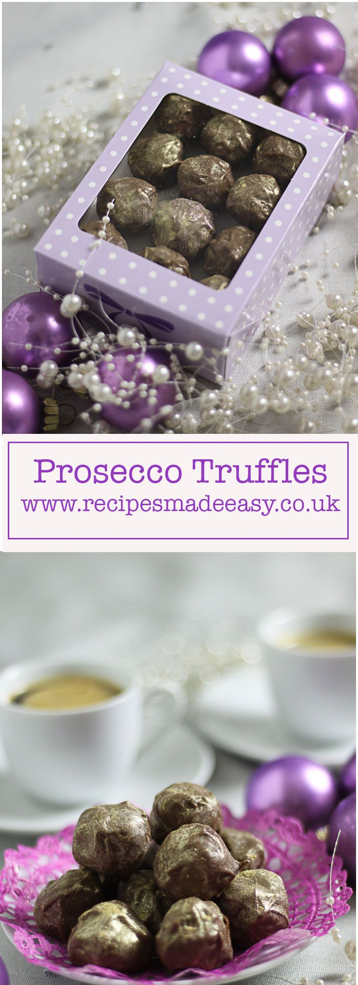 Prosecco truffles made easy. Flavoured with prosecco and encased in creamy milk chocolate, these truffles make a delicious indulgent treat.