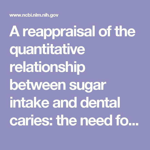 A reappraisal of the quantitative relationship between sugar intake and dental caries: the need for new criteria for developing goals for sugar intake