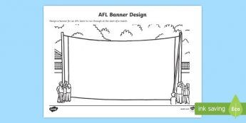 AFL Banner Design Activity Sheet