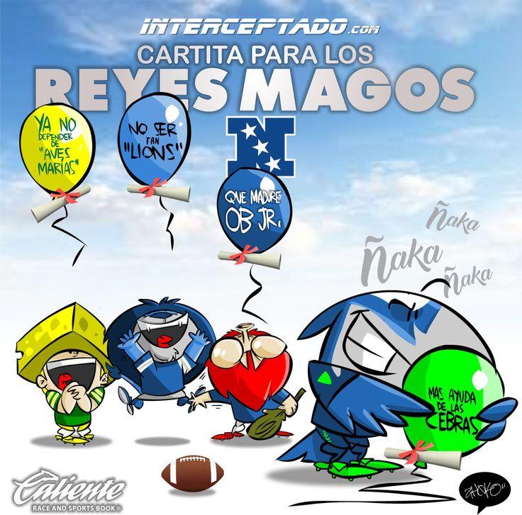 "#ElCartonDelDia para @interceptado ""CARTA A LOS REYES MAGOS NFC"" @Packers @Seahawks @Lions @Giants #NFL #NFLPlayoffs #Playoffs"