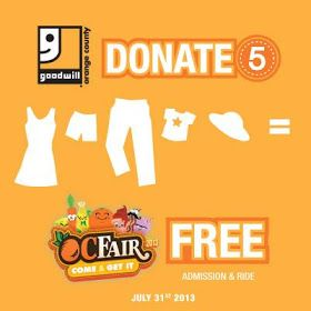 SoCal Kids Outdoor Adventures: Free OC Fair Tickets! Find Out How! @Goodwill of Orange County (Official) #Donate4Good