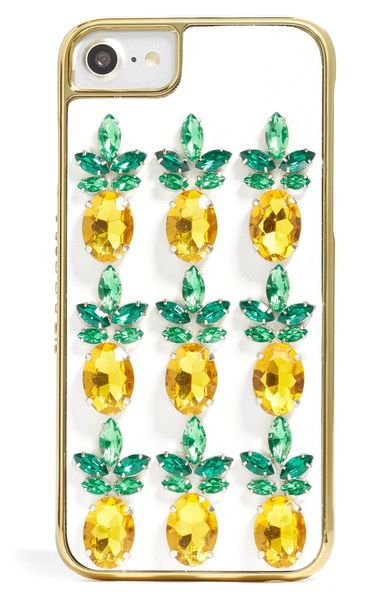 Main Image - Skinnydip Pineapple Bling iPhone Case (6/7)