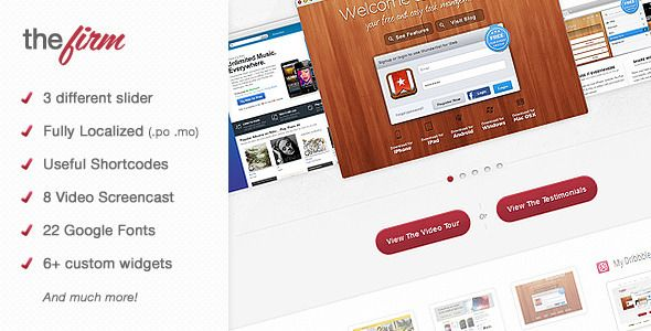 The Firm - Corporate WordPress Theme