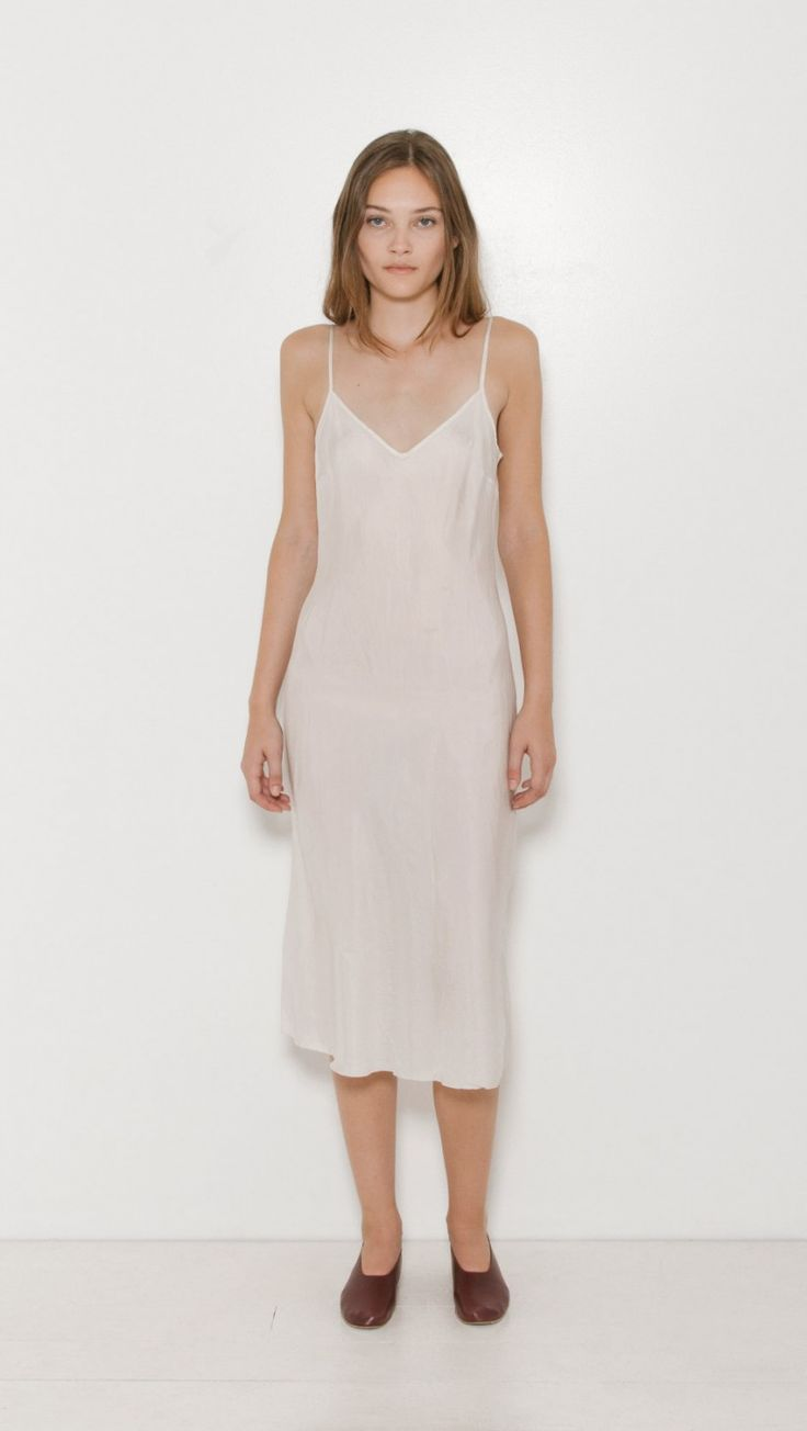 Organic by John Patrick Long Slip Dress in Vintage White | The Dreslyn