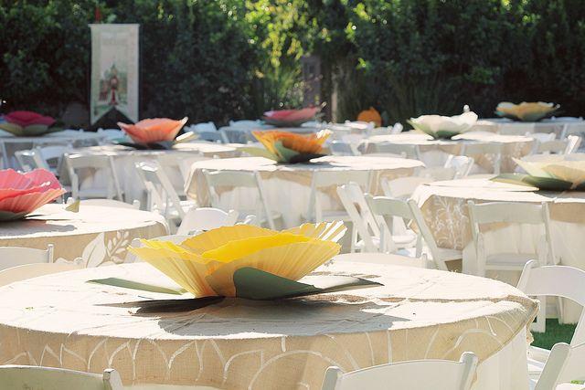 Giant paper flower centerpieces craft ideas pinterest