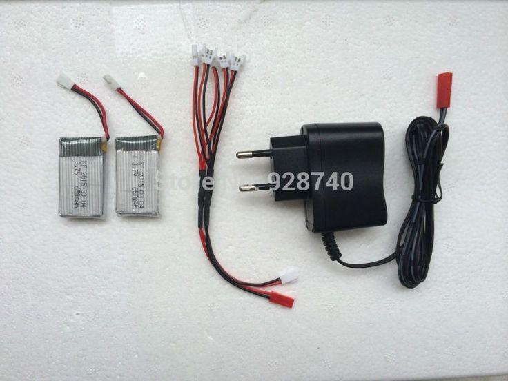 850mAh 3.7V LiPo Battery + AC Charger Euro Plug for SYMA X5C-1 X5C X5 X5SC X5SW JJRC H9D H5C RC Drone Quadcopter Spare Parts Set