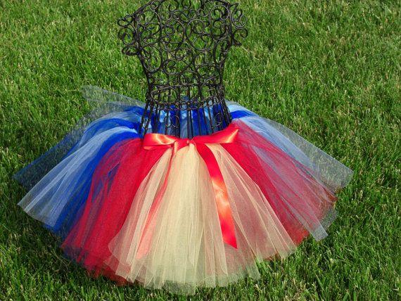 Snow White tutu- Girls Snow White Tutu- Princess Tutu- Baby Snow White Costume- Blue Tutu, Yellow Tutu, Red tutu- Disney Costume
