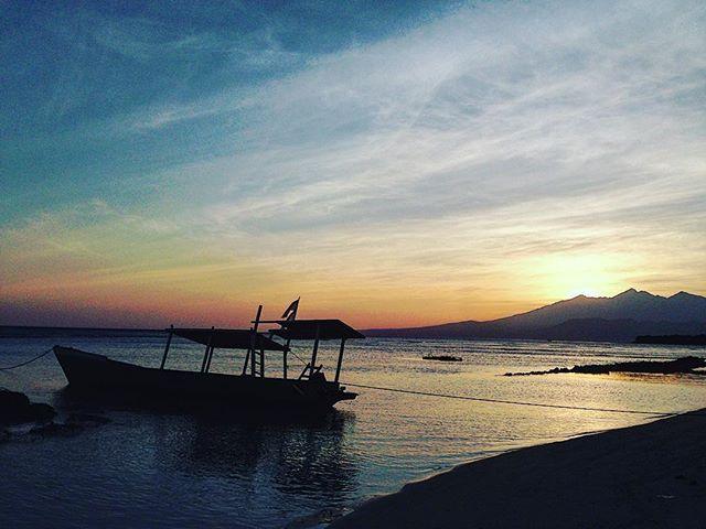 """Dawn stop me now"": sunrise at Gili Trawangan, October 2013. #nottoday #latepost #sunrise #islandlife #gilitrawangan #lombok # #quiet #tranquility #lifeisgood #instatravel #wanderlust #wonderfulindonesia #boat #sea #seaside #throwback"