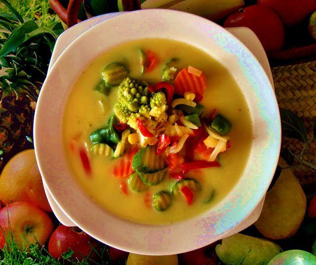 Zdrowe Odżywianie: Zupa z zieloną pastą curry