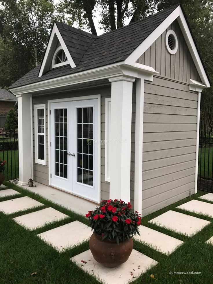 Windsor garden shed windsor f c double french doors for Windsor garden studio