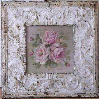 Moldura e quadro de rosas.