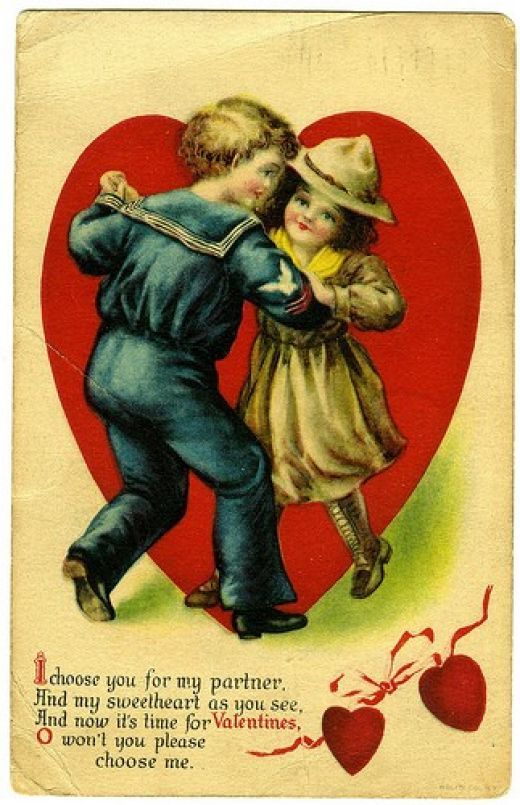 valentine cards antique