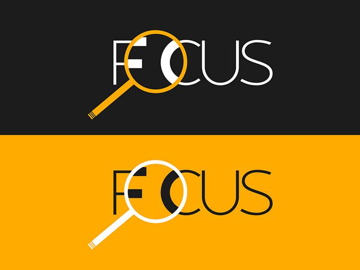 clever focus logo  magnifyingglass  typography  clevertype