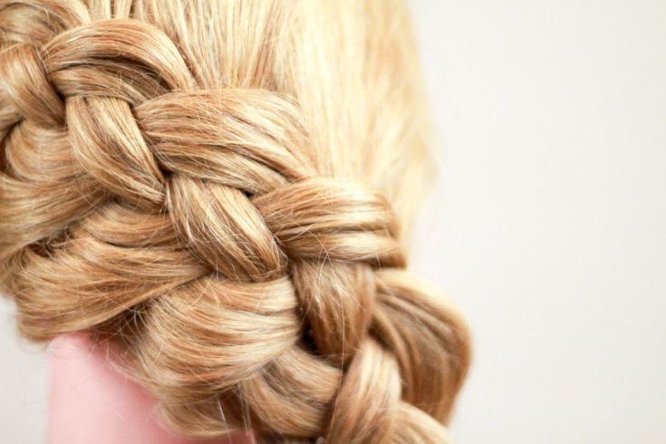 Плетение косичек. Коса из 4 прядей. How to make 4 strand braid