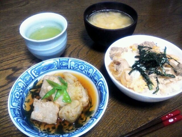 揚げ出し大根、凄く美味しかったです♡ key♪さん、美味しいレシピありがとうございます(*'▽'*) - 110件のもぐもぐ - MUNI3さんの揚げ出し大根♬&親子丼&ジャガイモと玉ねぎの味噌汁 by sakachinmama