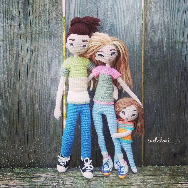 Вязаный #семейныйпортрет ) желаю им счастья                              …
