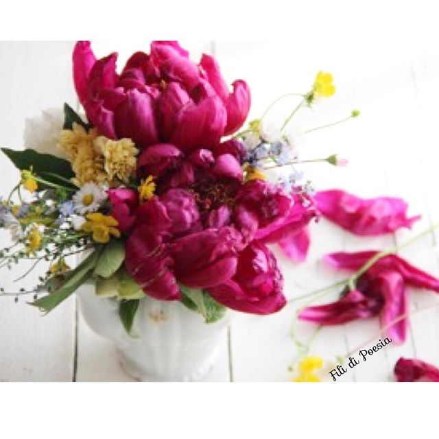 peonies and wild flowers