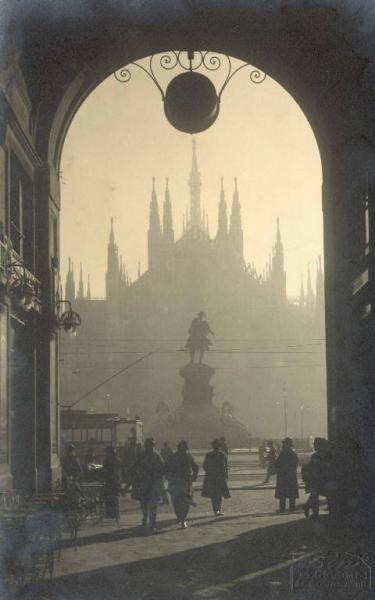 Milan's Duomo as seen from Galleria