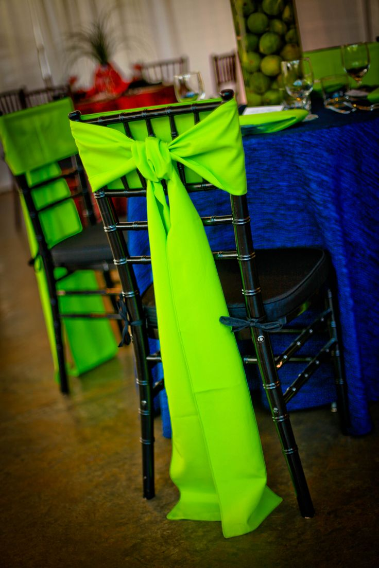 Green Chair Bow For Wedding Decorations
