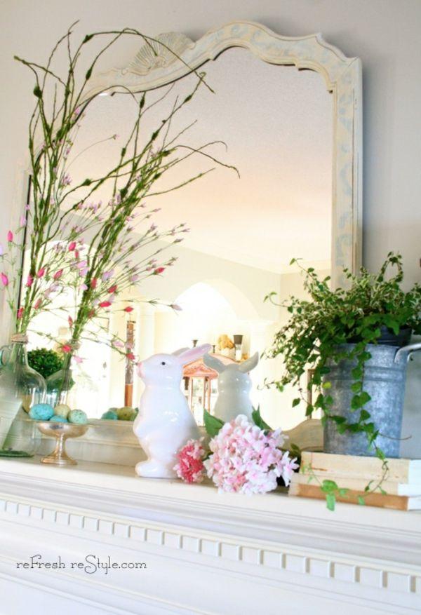 Frühlingsdekorationen Für Den Kaminsims Frische Ideen Dekoration