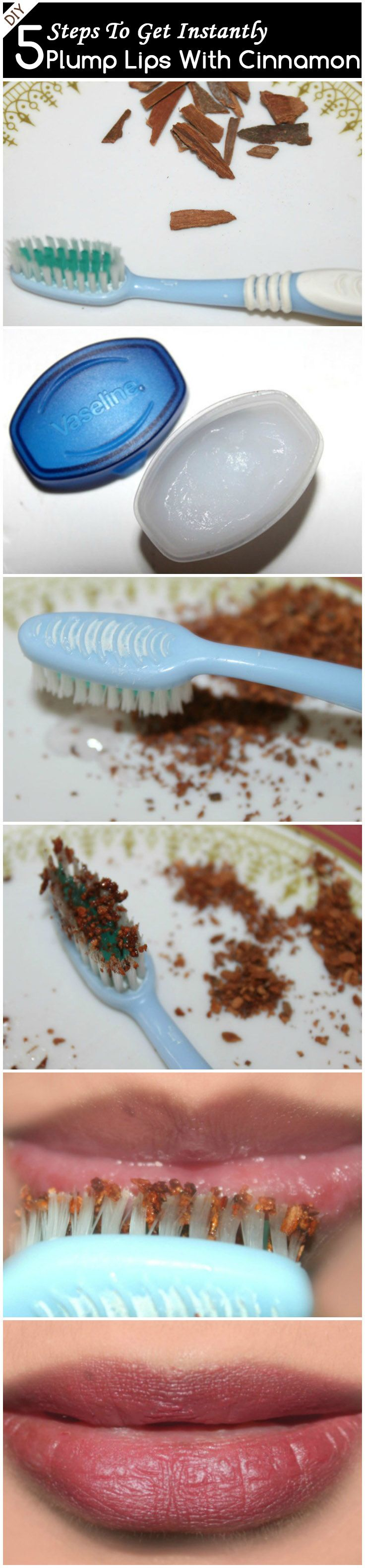 DIY – 5 Easy Steps To Get Instantly Plump Up Your Lips With Cinnamon