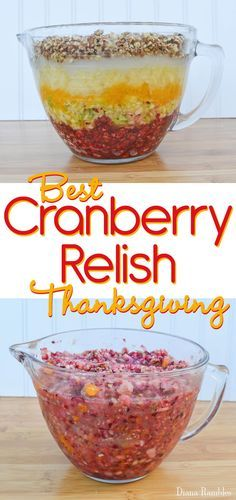 Best Cranberry Relish Recipe - This cranberry relish recipe is the best you will ever make. It's perfect for Thanksgiving or Christmas. #SoFabSeasons