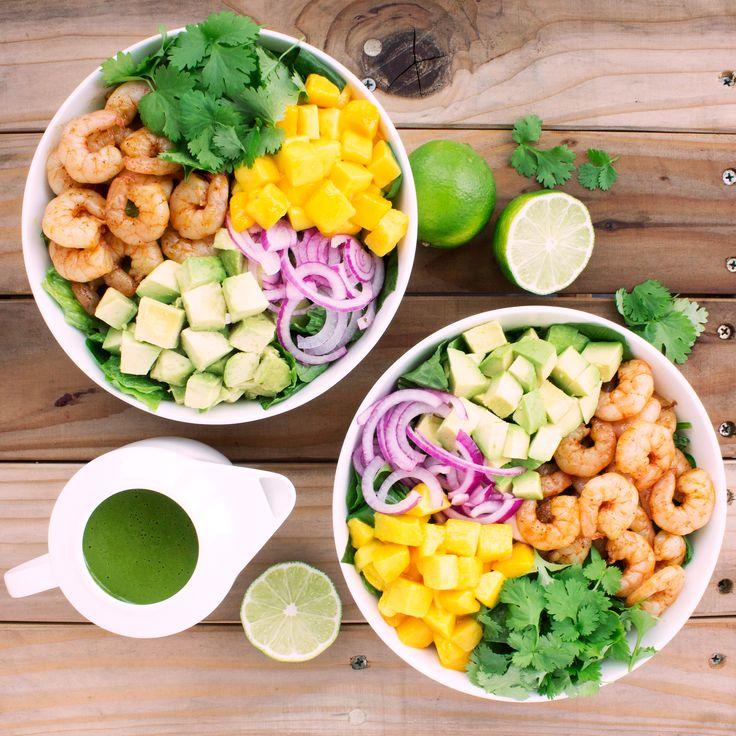 Mango Shrimp Salad with Cilantro Lime Vinaigrette   Kit's Coastal   #kitscoastal #coastalpaleo #paleo #glutenfree #dairyfree