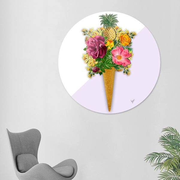 Discover «PINNEAPLE ICE CREAM», Limited Edition Disk Print by Gloria  Sánchez - From 95€ - Curioos