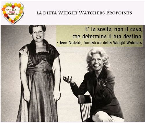 Mangia senza Pancia e la dieta Weight Watchers