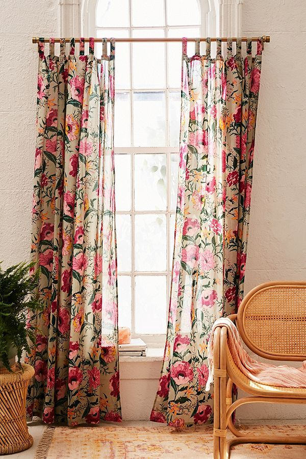 Poppy Window Curtain Urban Outfitters Curtains Window Curtains