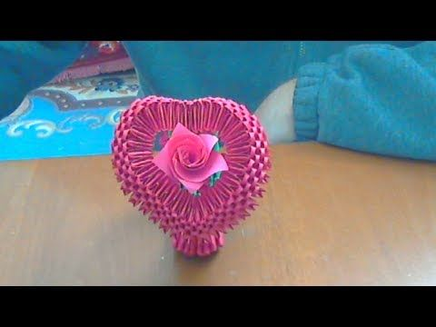 HOW TO MAKE A 3D ORIGAMI HEART - YouTube