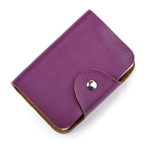Hasp Genuine Leather Card ID Holder Bank Credit Card Holder Multiple Cards Can B…