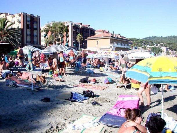 La spiaggia di #Andora