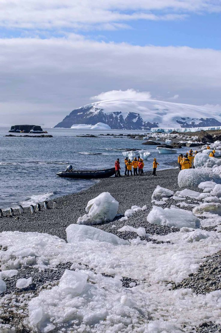 Zodiac arrived on Brown Bluff, Antarctica | heneedsfood.com