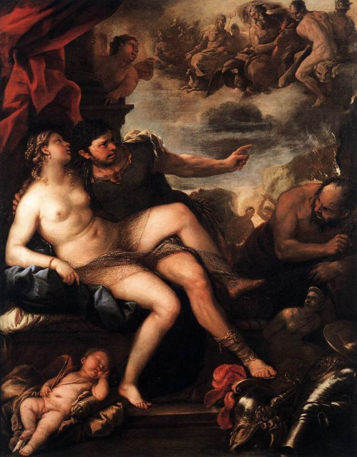 The Athenaeum - Mars and Venus Caught by Vulcan (Luca Giordano - )