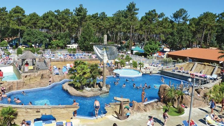 Water park at Le Vieux Port campsite, SW France. 2 bedroom accommodation can be had here from £350 for the May 2015 half-term week with Eurocamp