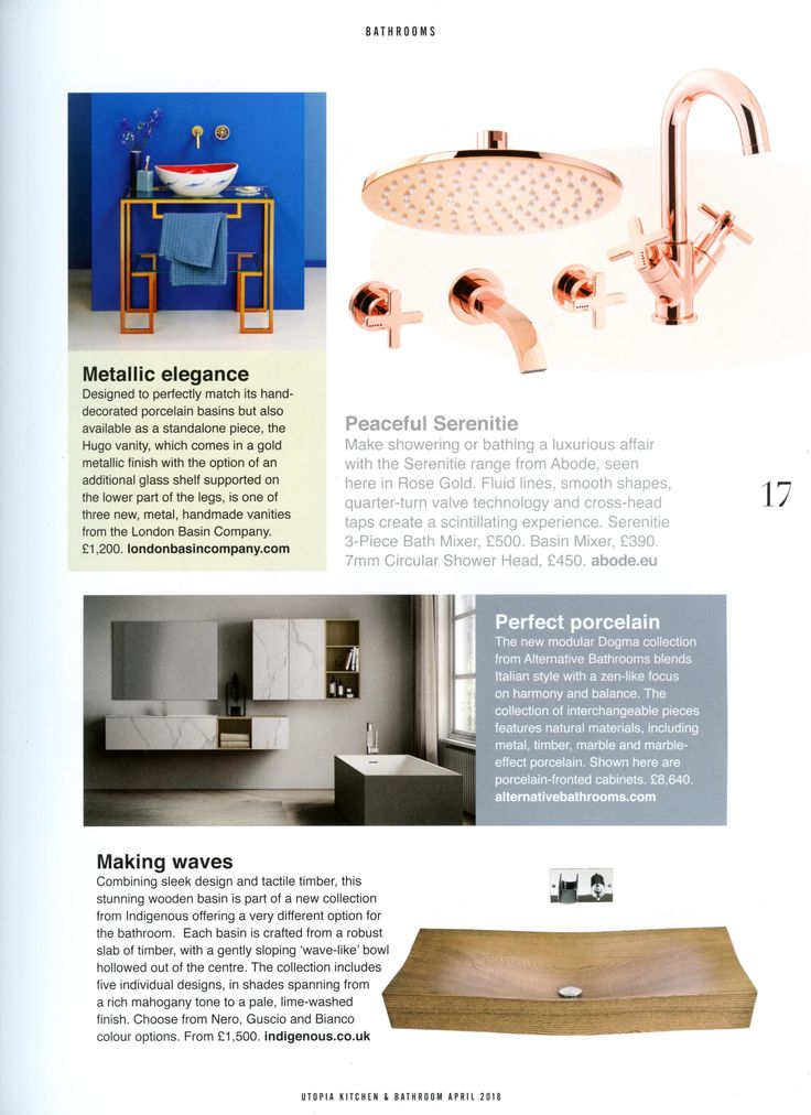 The new modular Dogma collection from Alternative Bathrooms. http://www.alternativebathrooms.com/ Utopia Kitchen & Bathroom April 2018