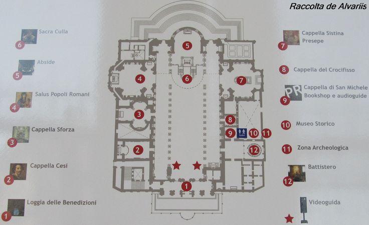2011 Santa Maria Maggiore, piantina | da Roma ieri, Roma oggi: Raccolta Foto de Alvariis