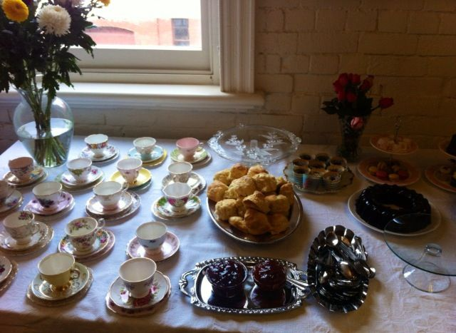 High tea with scones and jelly