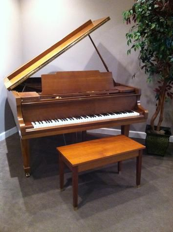 It has been a dream since I was younger to have a grand baby piano in my house. Although the brown looks nice, I'd prefer  mine to be black. It would match better with the rest of the interior of my house.
