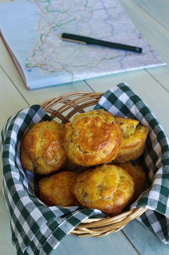 Queques de bacon e queijo