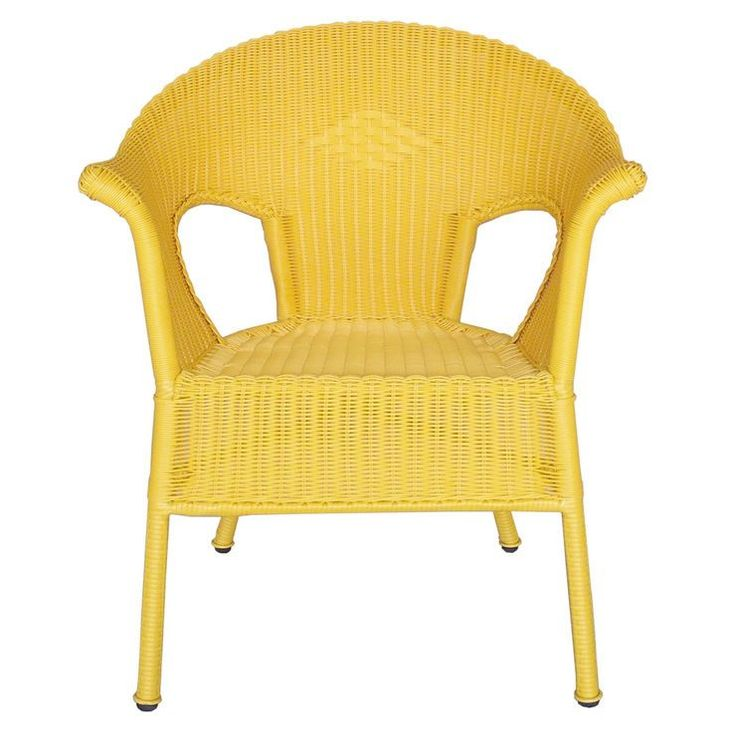 Yellow Outdoor Wicker Chair