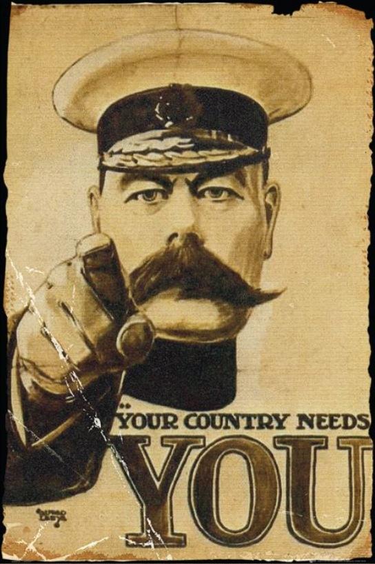Lord Kitchener World War 1 British Army recruitment poster