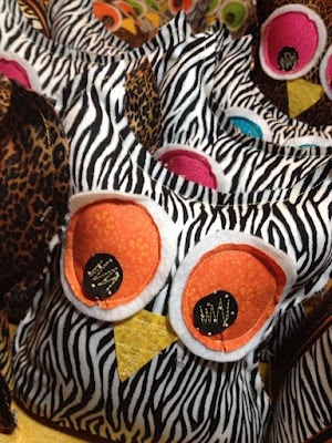 I made these owls with wild animal print fabric!: Farm Animals, Wild Animals, Owl Theme, Owl Girls, Animal Prints, Craft Ideas, Owl Miscellaneous Owls