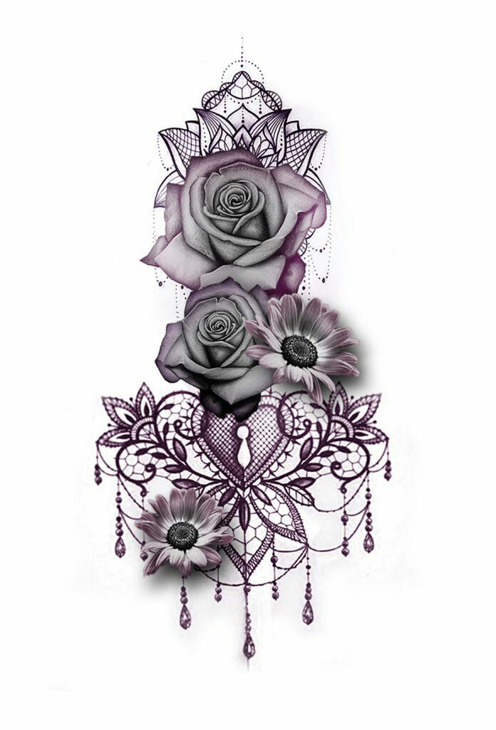 But a skull and roses tat