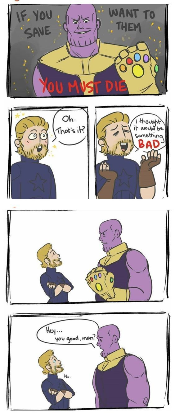 Lol I thought it said if you safe want to them XD Love Marvel? Check out our S…