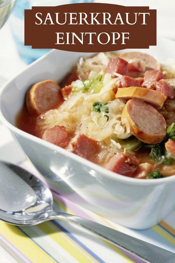 Sauerkrauteintopf | Kalorien: 439 Kcal - Zeit: 1 Std. 10 Min. | http://eatsmarter.de/rezepte/sauerkrauteintopf (bar recipes low carb)