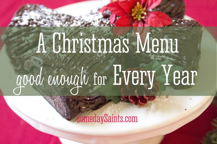 A Christmas Menu: Good for Every Year, Gluten Free recipes