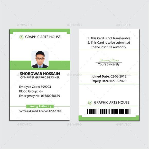 Company Id Card Template Luxury Id Card Template 19 Download In Psd Pdf Word In 2020 Id Card Template Employee Id Card Employees Card